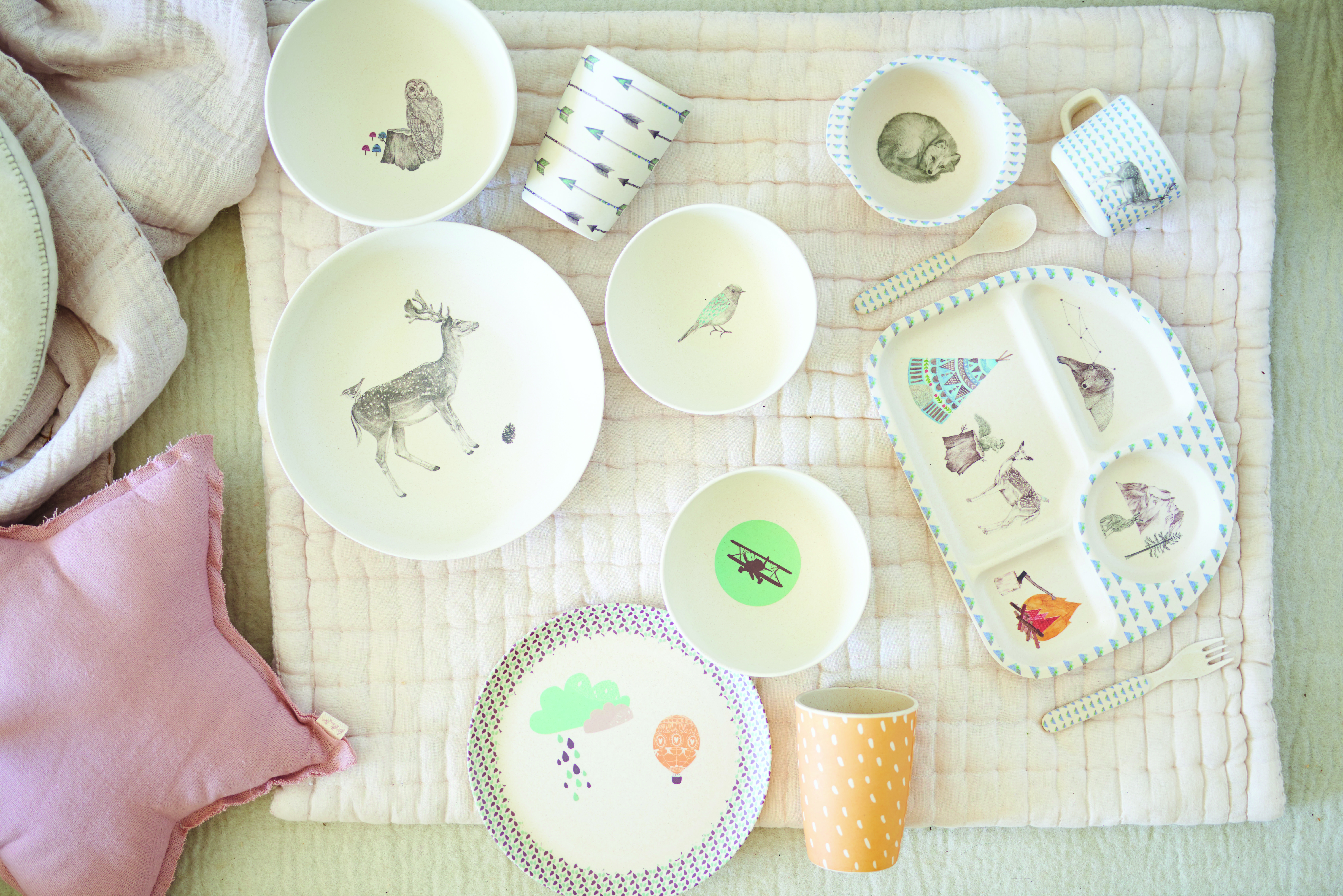 Bamboo Dinnerware_birds eye