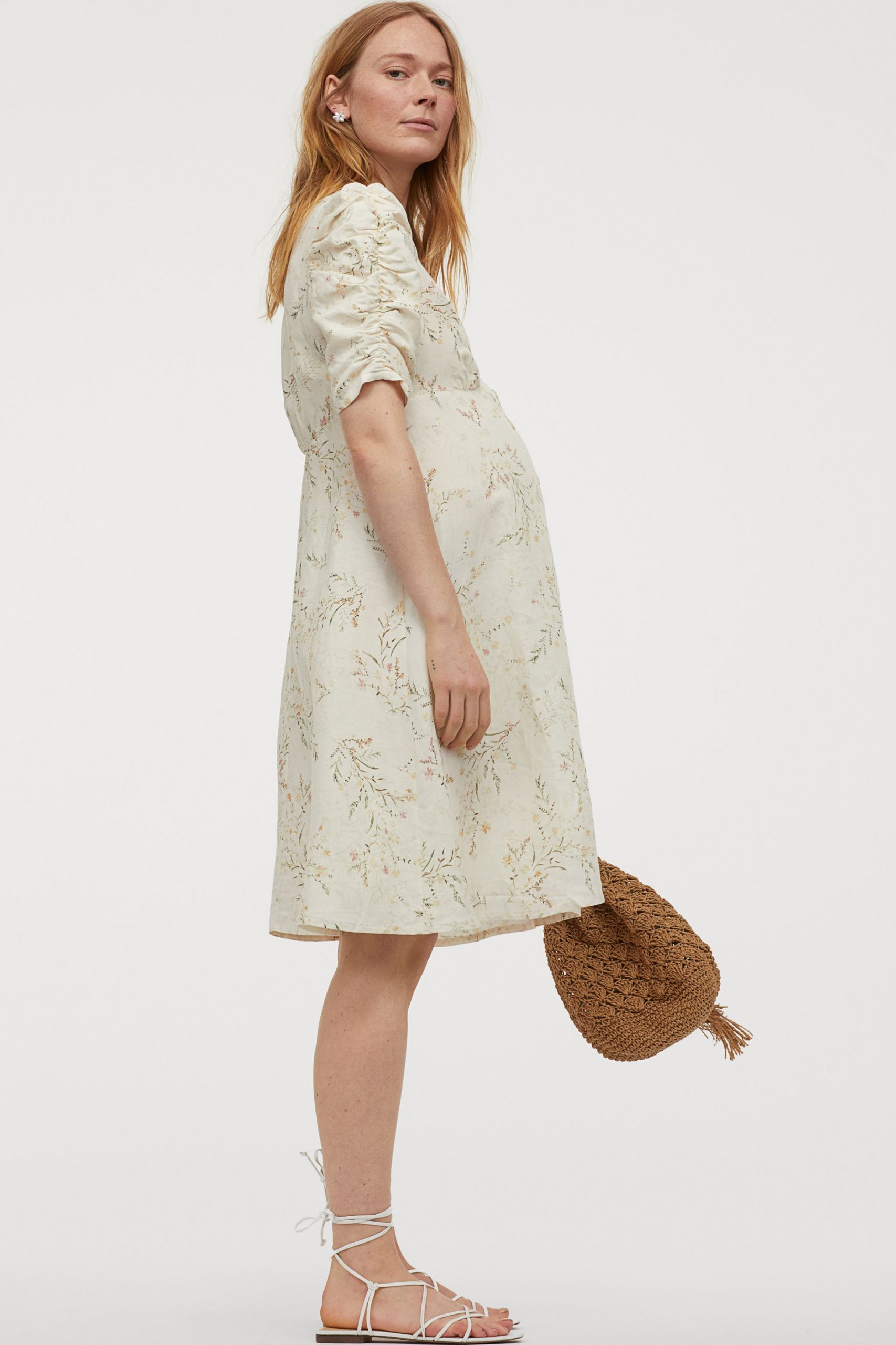 H&M MAMA Linen-blend dress was £39.99 now £20.00